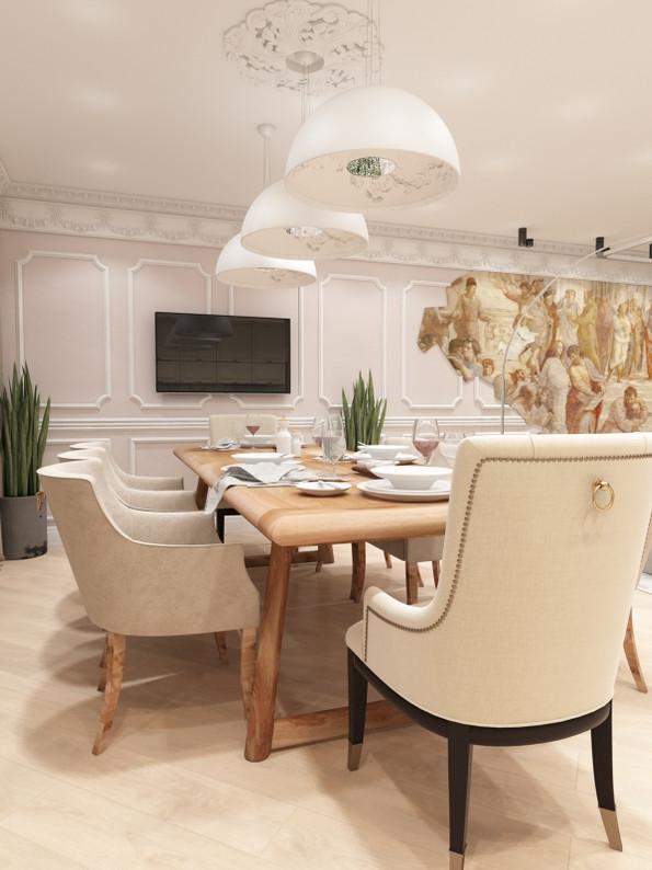 кухня гостиная интерьер