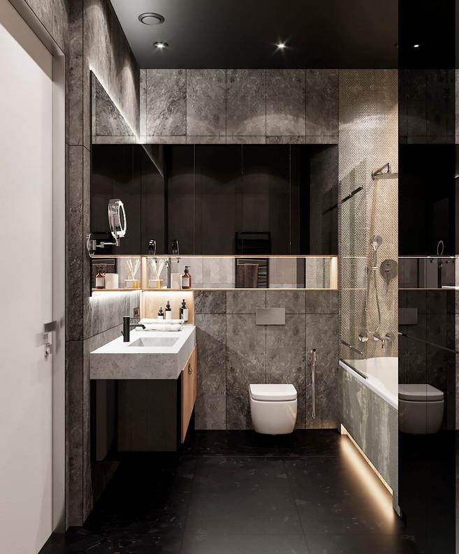 широкоформатная плитка в ванную