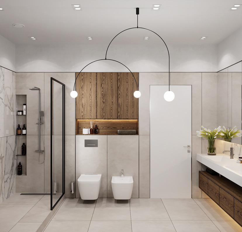 ванная с душевой дизайн