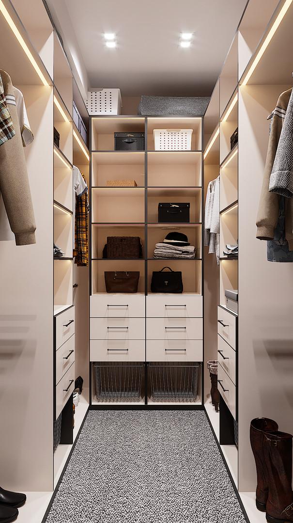 гардероб с ковровым покрытием