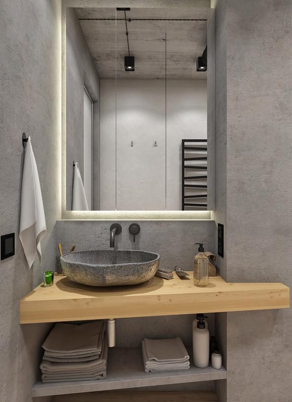 ванная комната лофт минимализм