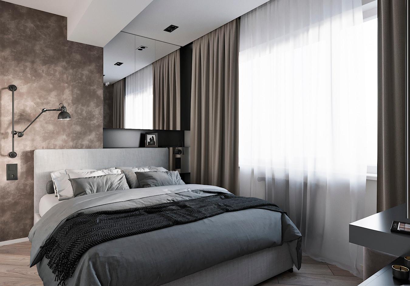 спальня теплая цветовая гамма