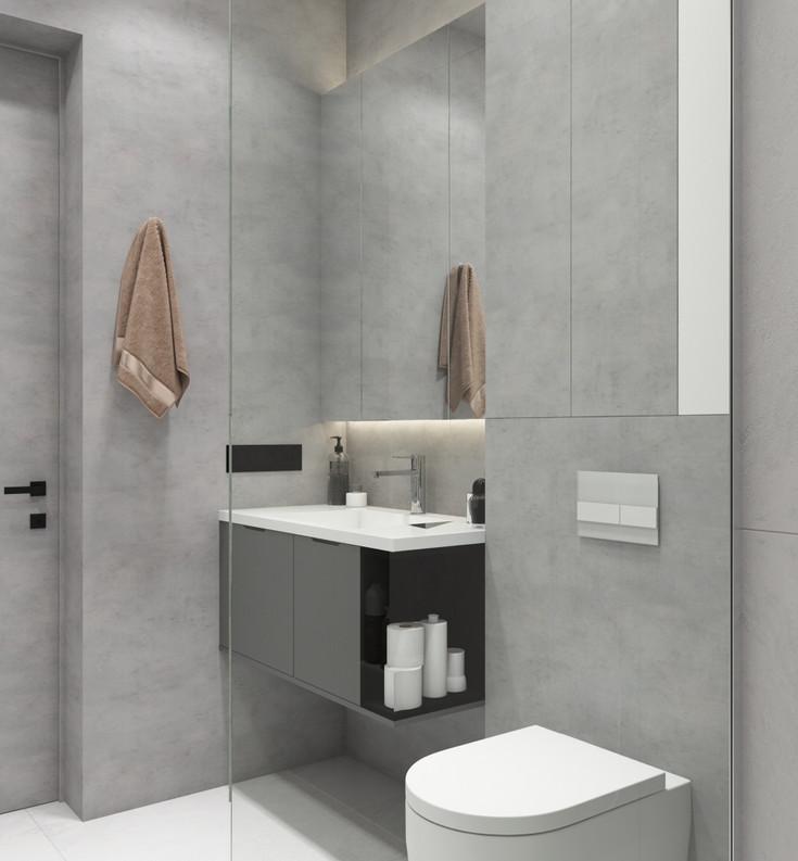 ванная в декоративной штукатурке