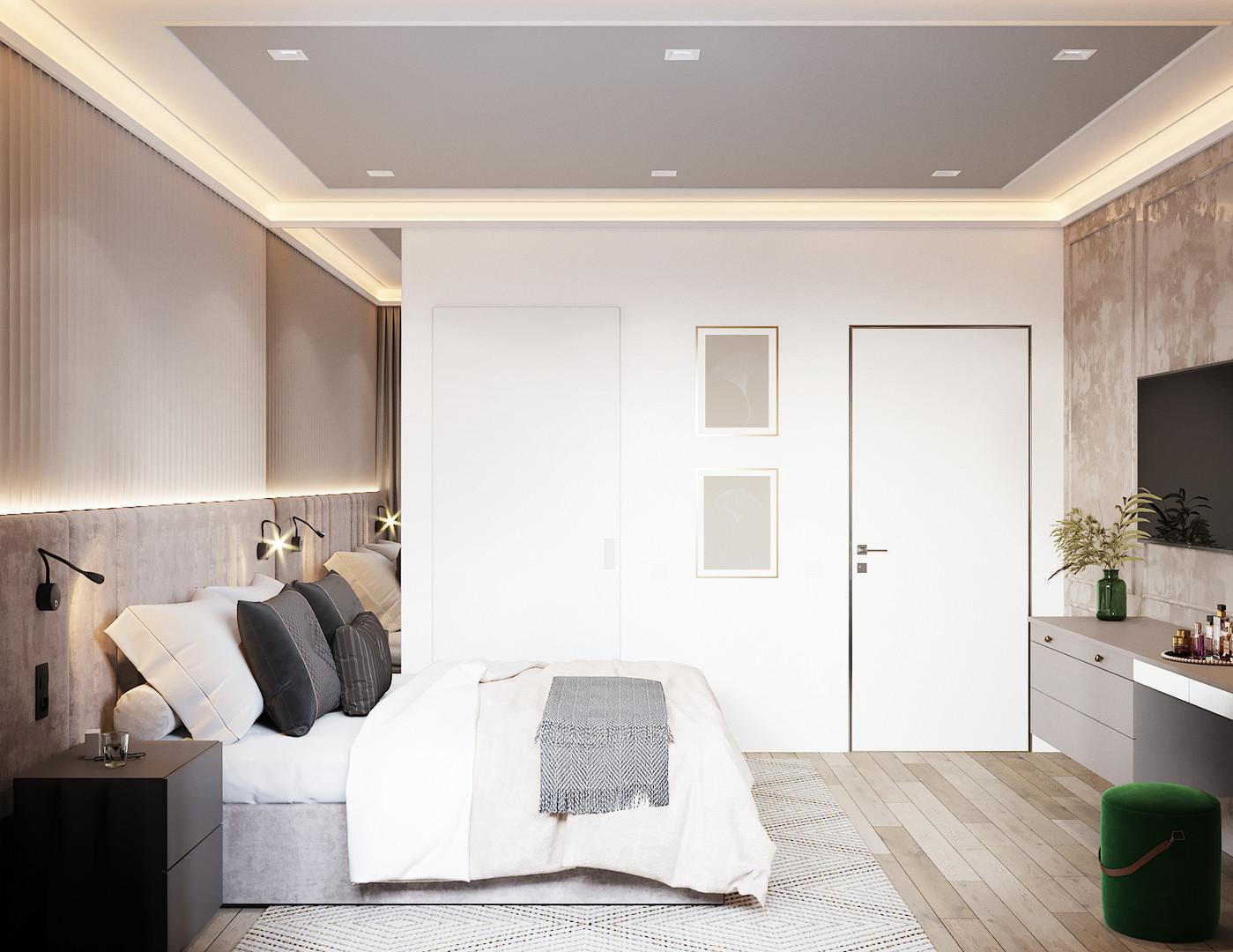 спальня светлая