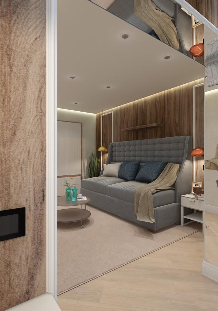 дизайн спальни гостевой