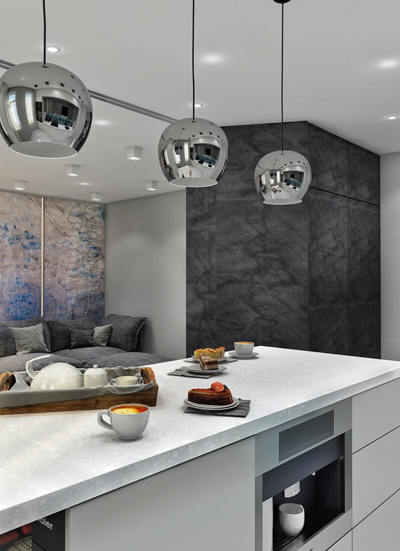 кухонный остров дизайн проект