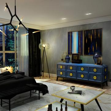 ПРОЕКТ DARK BLUE LUX   квартира