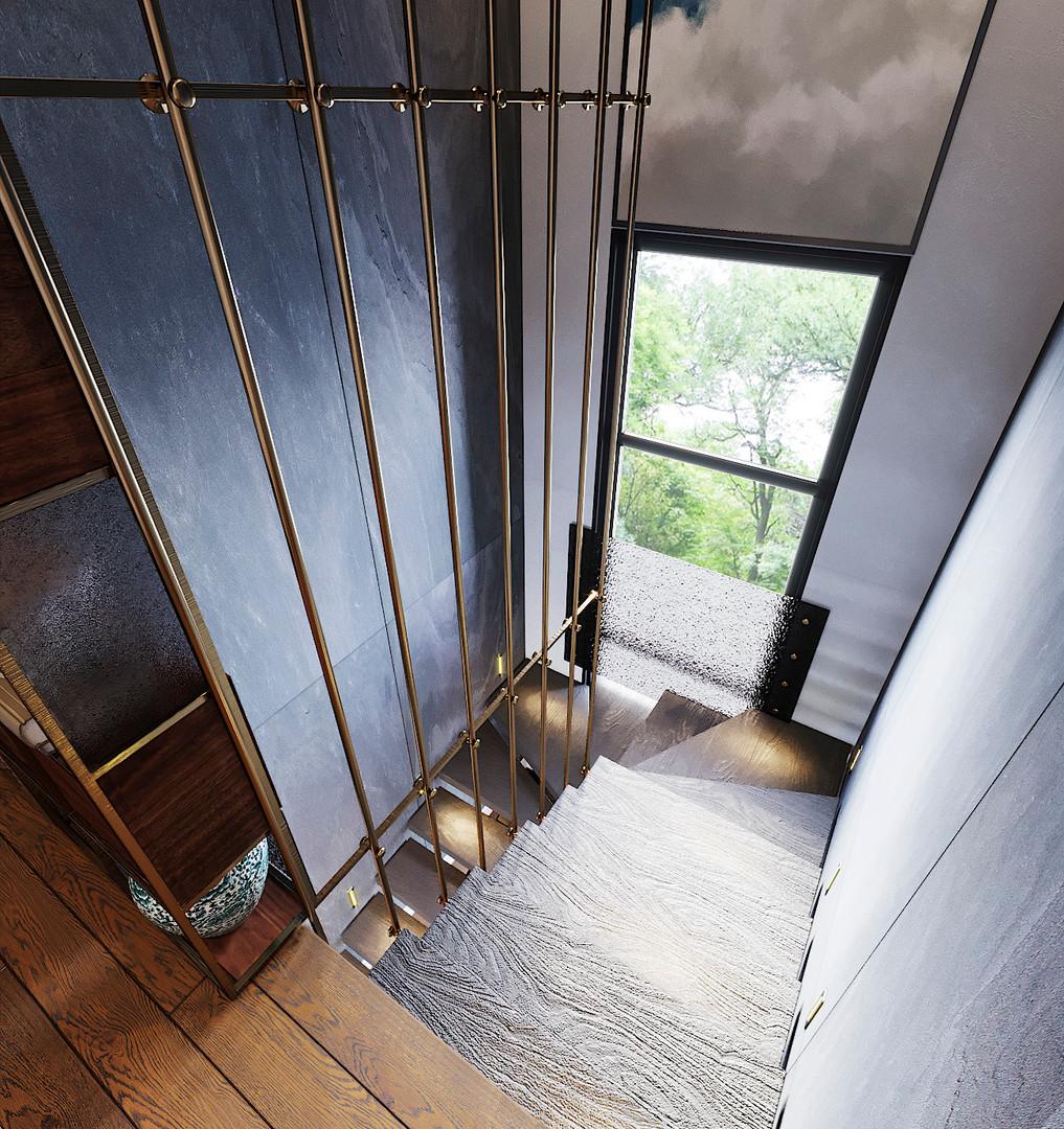 необычный лестничный холл