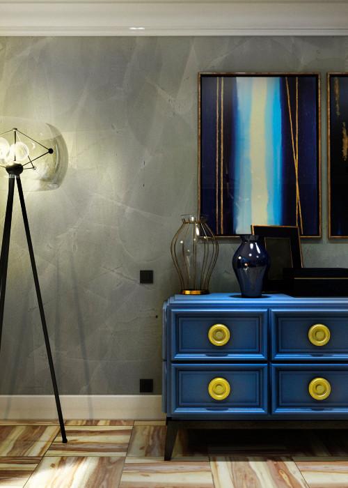 спальня синий комод