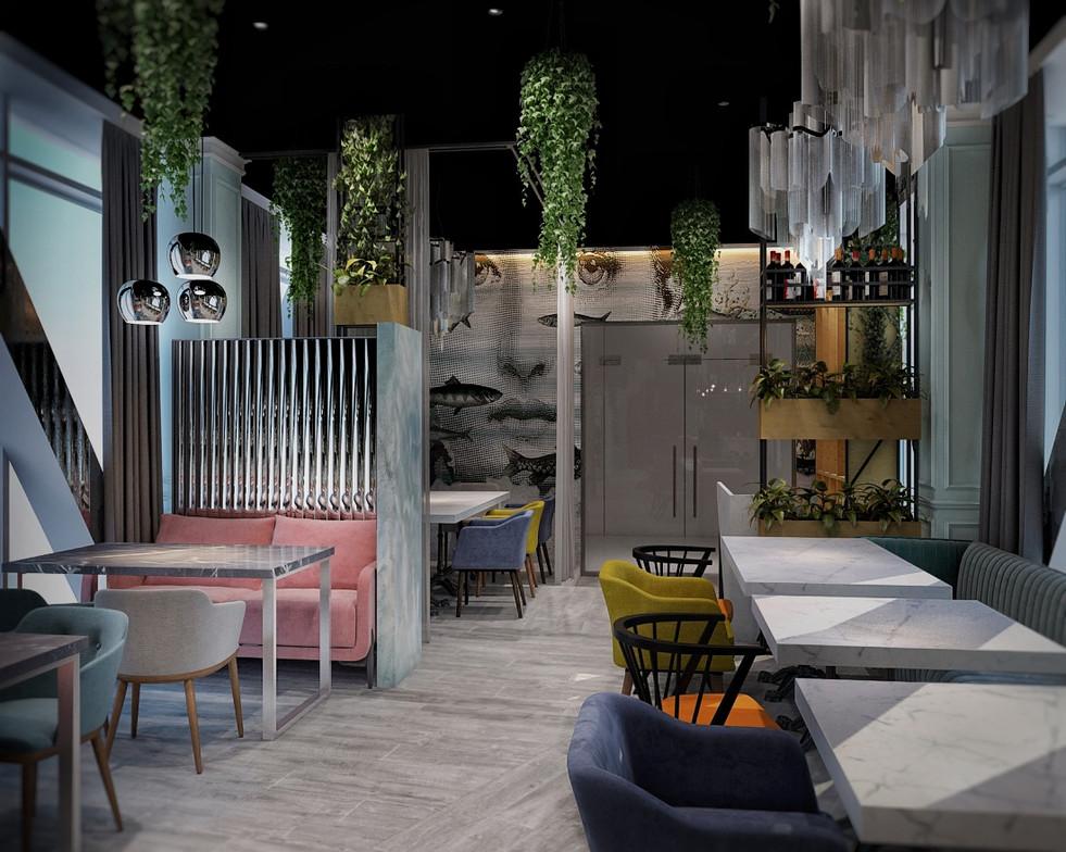 разработка дизайн-проекта кафе