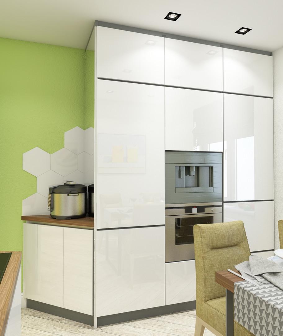 встроенная кухня дизайн проект