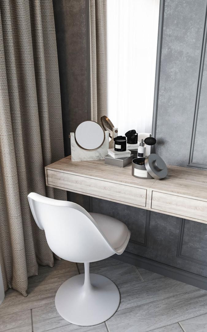будуарный столик в спальне дизайн