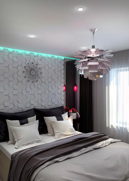 гипсовые панели дизайн спальни