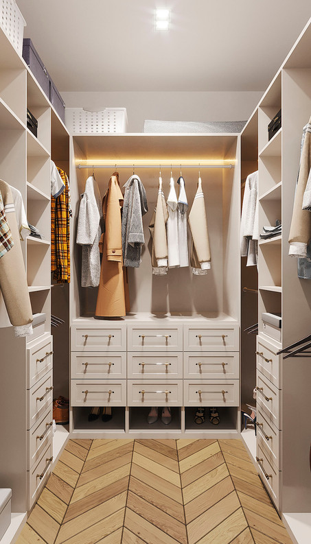 современная гардеробная