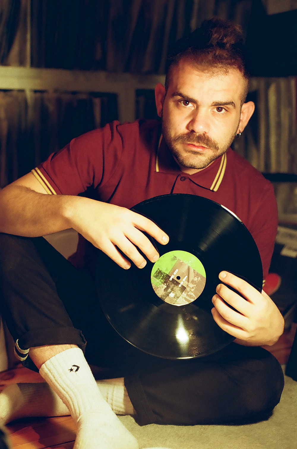 Hector Oaks playing vinyls for Playful Magazine Berlin