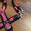 Thumbnail: Führleine schwarz-pink