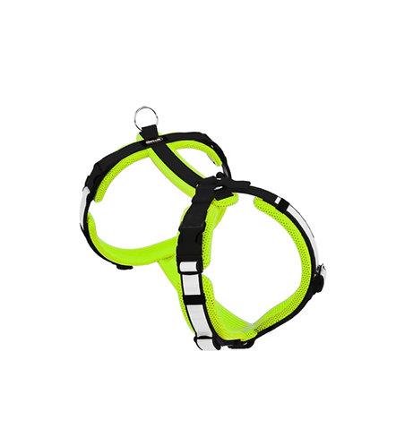 Dogfellow Brustgeschirr Secure Easy, Farbe: neongelb-schwarz