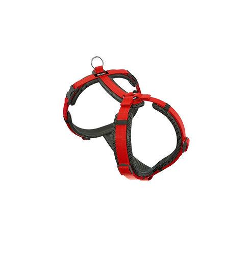 Brustgeschirr Happy, Farbe: schwarz-rot