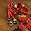 Thumbnail: Halsband + Leine Set in rot-rot