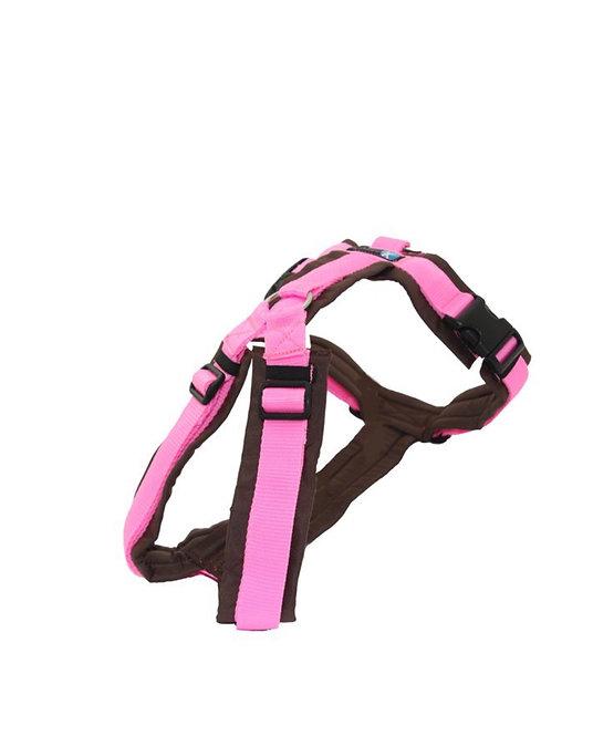 Anny x Brustgeschirr FUN Sonderedition, Farbe: braun-rosa