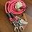 Thumbnail: Führleine rosa-grau
