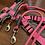 Thumbnail: Lakritzpfote Führleine rosa-grau