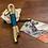 "Thumbnail: Schlüsselanhänger ""creme-petrol"""