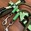 Thumbnail: Lakritzpfote Führleine oliv-hellgrün