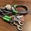Thumbnail: Halsband + Leine Set in grau-neongrün
