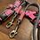 Thumbnail: Lakritzpfote Führleine grau-rosa