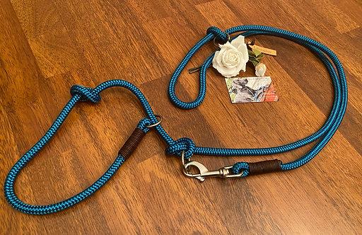 2-fach verstellbare Retrieverleine mit Ledertakling