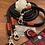 Thumbnail: Halsband + Leine Set in marine-bordeaux