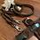 Thumbnail: Halsband + Leine Set in braun-braun