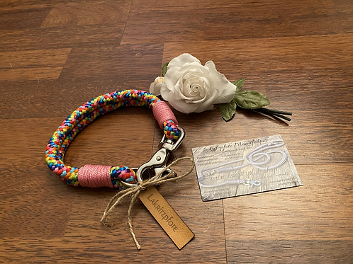 "Lakritzpfote Standard - Halsband (doppelte Halsung) ""regenbogen-rosa"""