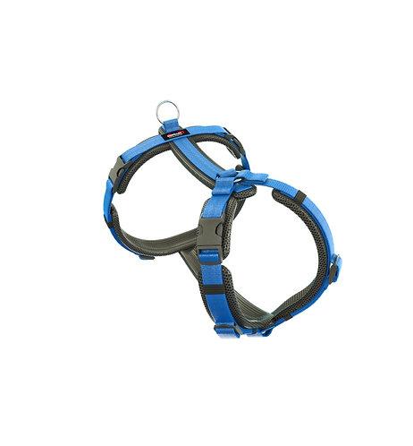 Dogfellow Brustgeschirr Easy, Farbe: schwarz-hellblau