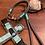 Thumbnail: Halsband + Leine Set in grau-mint