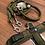 Thumbnail: Halsband + Leine Set in oliv-oliv