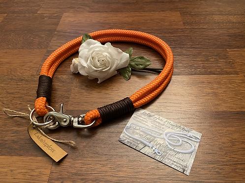 """Lakritzpfote Standard - Halsband (doppelte Halsung) """"neonorange-braun"""""""