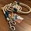 Thumbnail: Halsband + Leine Set in creme-petrol