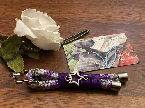 "Schlüsselanhänger ""lila/grau-lila"""