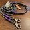Thumbnail: Halsband + Leine Set in grau-lila