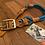 Thumbnail: Tau-Leder Halsung mit Ledertakling verstellbar, doppeltes Tauwerk