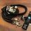 Thumbnail: Halsband + Leine Set in schwarz-schwarz