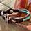Thumbnail: Verstellbare Halsung mit Ledertakling, Tauwerk dreifach