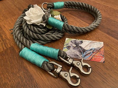 Halsband +  Leine Set, gedrehtes Tauwerk