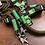 Thumbnail: Halsband + Leine Set in oliv-hellgrün