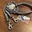 Thumbnail: Halsband + Leine Set in grau-grau