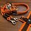 Thumbnail: Halsband + Leine Set in neonorange-braun