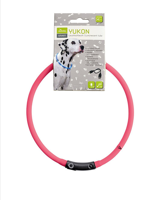 LED - Leuchthalsband, Farbe : pink