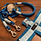 Thumbnail: Halsband + Leine Set in lichtblau-hellblau